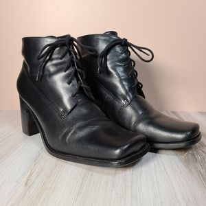 VTG stacked heel chunky leather Oxford Prairie